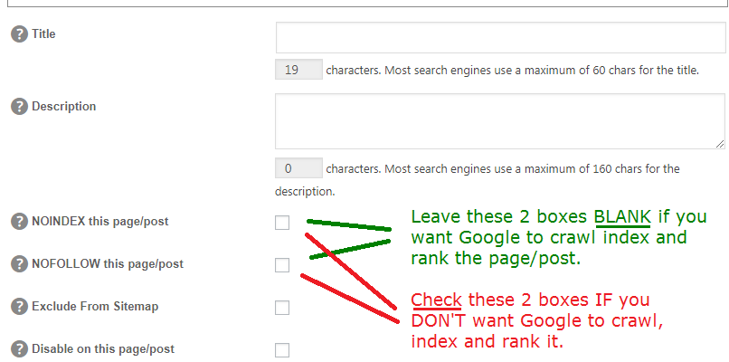 how to stop google index