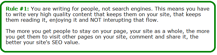 most important seo rule
