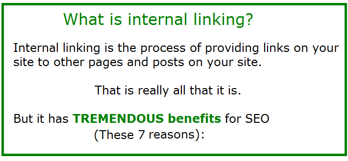 what is internal linking