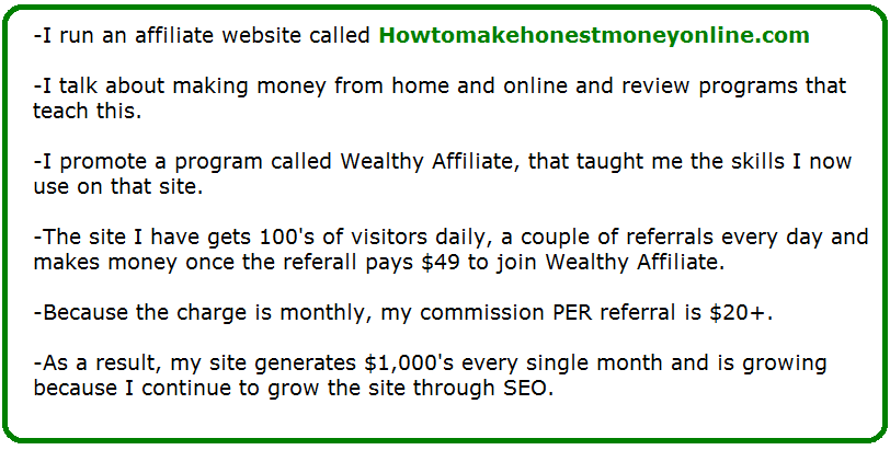 how to make money with seo example