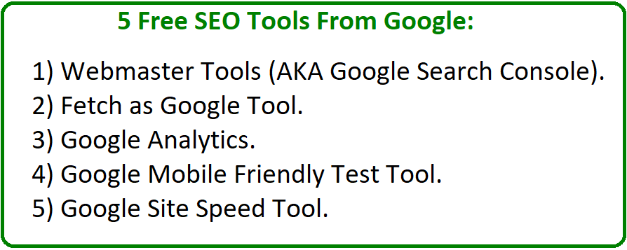 free seo tools from google