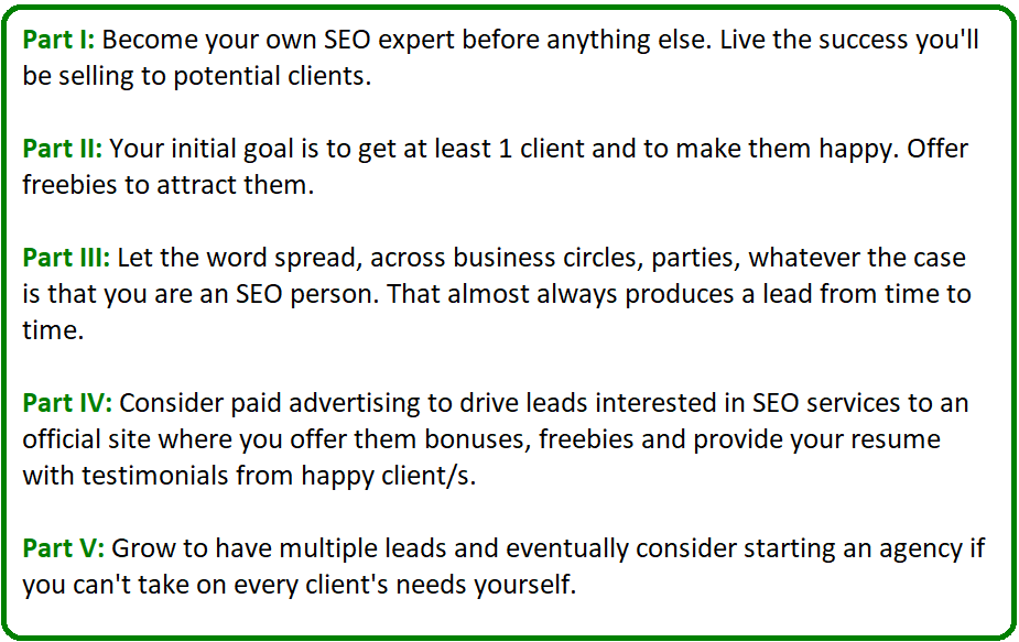 how to sell your seo services