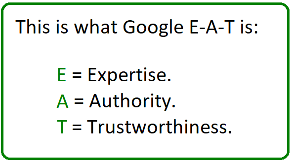 what is google e-a-t
